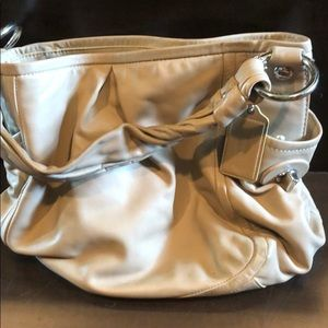 Used leather coach bag